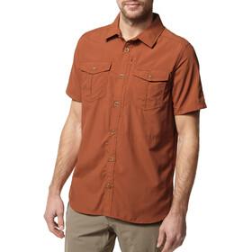Craghoppers NosiLife Adventure II Short Sleeved Shirt Men Burnt Whisky